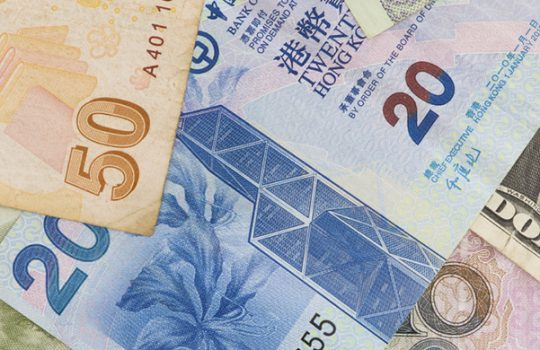 International payments, money notes in different currencies