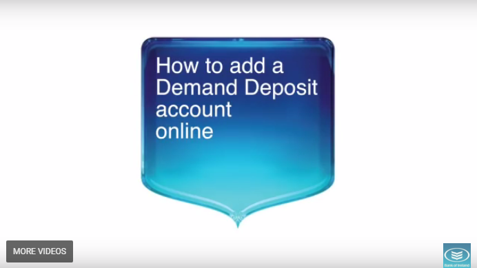 Adding a deposit account for online viewing