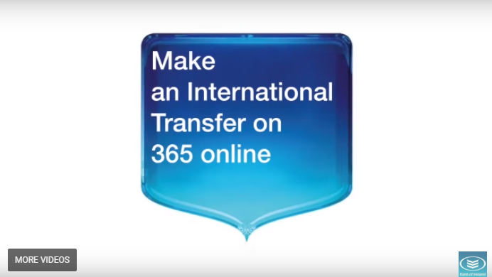 Set up and make an International payment online